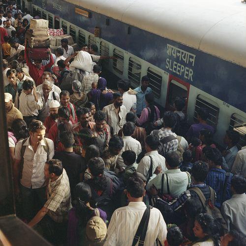 Gare de Gorakphur, Uttar Pradesh, Inde