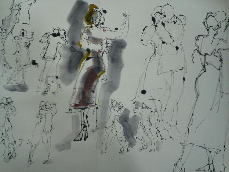 Dernier tango à Bruxelles (Dessins de Cathy Beauvallet)