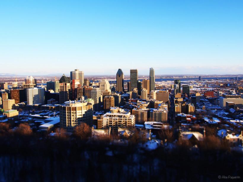 soleil sur la ville